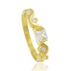 Anel Zircônias Semi joias Atacado  -  AN1359