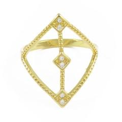 Anel Zircônias Semi joias Atacado  -  AN1320