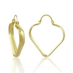 Brinco Argola Coração Semi joias Atacado  -  BR4691
