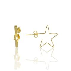 Brinco Argola Estrela Semi joias Atacado  -  BR4657