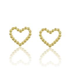 Brinco Coração Semi joias Atacado  -  BR4722