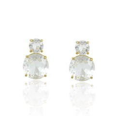 Brinco Cristal Semi joias Atacado  -  BR4592