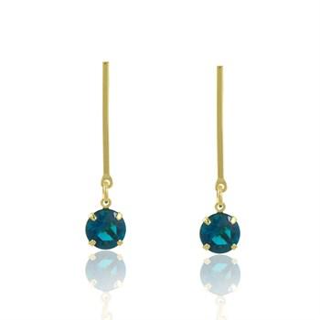 Brinco Cristal Azul - BR4585