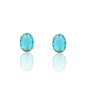 Brinco Cristal Azul - BR4594
