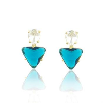 Brinco Cristal Azul - BR4643