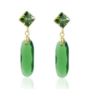 Brinco Cristal Verde - BR4538