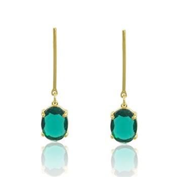 Brinco Cristal Verde - BR4598