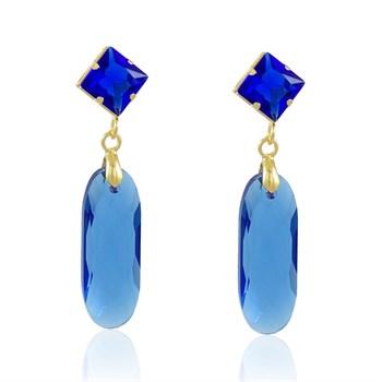 Brinco Cristal azul - BR4537
