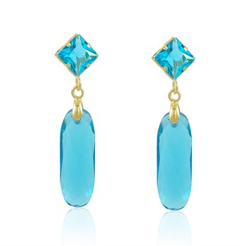 Brinco Cristal azul - BR4535