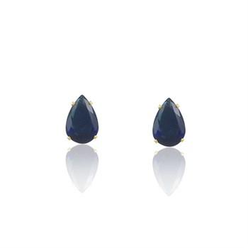 Brinco Gota Zircônia Azul - BR4582