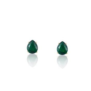 Brinco Gota Zircônia Verde - BR4507
