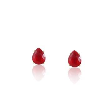 Brinco Gota Zircônia Vermelha - BR4505
