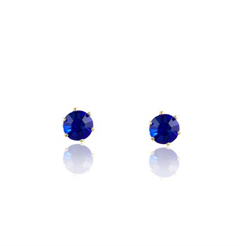 Brinco Strass Azul - BR3984