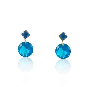 Brinco Zircônia Azul - BR4503