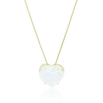 Gargantilha Coração Cristal - GA906