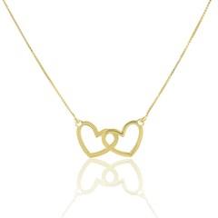 Gargantilha Corações Semi joias Atacado  -  45 cm