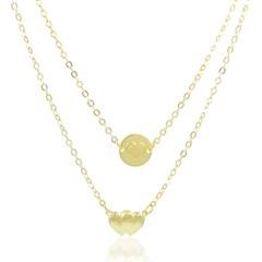 Gargantilha Corações Semi joias Atacado  -  40 cm