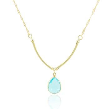 Gargantilha Cristal Azul - GA836