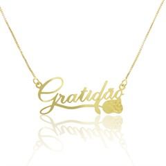 Gargantilha Gratidão Semi joias Atacado  -  GA1010