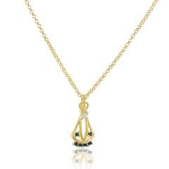 Gargantilha Nossa Senhora Aparecida Zircônias Semi joias Atacado  -  GA590