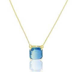 Gargantilha Rainbow Azul Semi joias Atacado  -  GA968