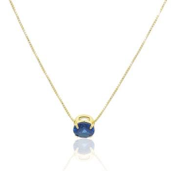 Gargantilha Zircônia Azul - GA862