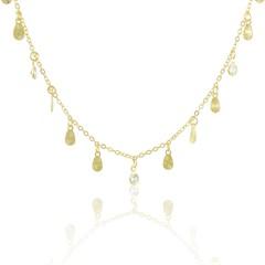 Gargantilha Zircônias Semi joias Atacado  -  40 cm
