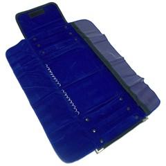 Mostruário Grande Veludo Azul Semi joias Atacado  -  MS28