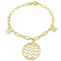 Pulseira Círculo Semi joias Atacado  -  PL1562