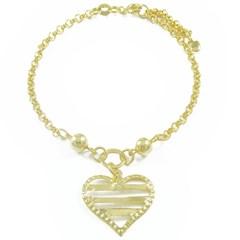 Pulseira Coração Semi joias Atacado  -  PL1525