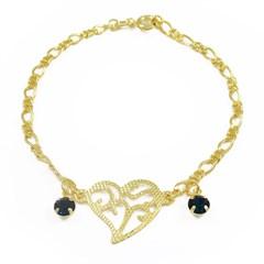 Pulseira Coração Semi joias Atacado  -  PL1556