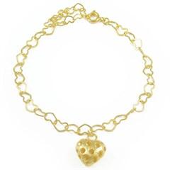 Pulseira Coração Semi joias Atacado  -  PL1588