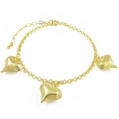 Pulseira Corações Semi joias Atacado  -  PL1568