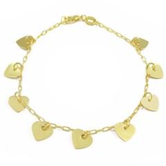 Pulseira Corações Semi joias Atacado  -  PL1570