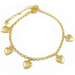 Pulseira Corações Semi joias Atacado  -  PL1586