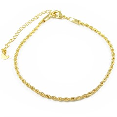 Pulseira Cordão Baiano  Semi joias Atacado  -  PL1656