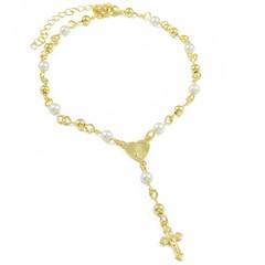 Pulseira Tercinho Bolinhas e Pérolas Semi joias Atacado  -  PL1650