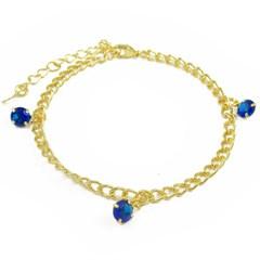 Pulseira Zircônia Azul Semi joias Atacado  -  PL1571