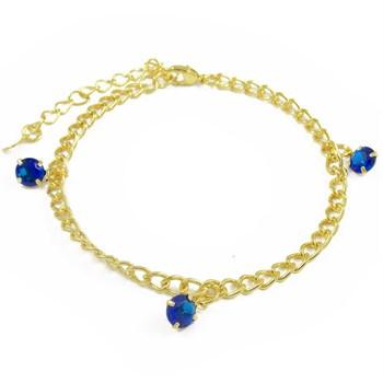 Pulseira Zircônia Azul - PL1571
