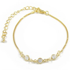 Pulseira Zircônias Semi joias Atacado  -  PL1631