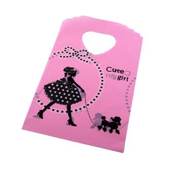 Sacolinha Plástica Cute Girl - 10 UND - SC17