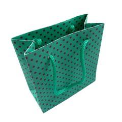 Sacolinha Verde Bolinhas Pequena - 1 UND - SC37 Atacado