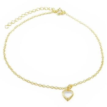 Tornozeleira Coração Cristal - TOR223