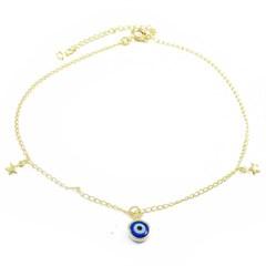 Tornozeleira Olho Grego Semi joias Atacado  -  TOR239